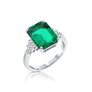 Emerald & diamonds ring model Princess of Sussex