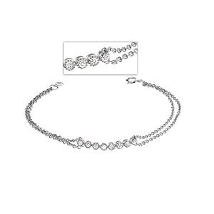 Diamonds chain bracelet model yellow gold