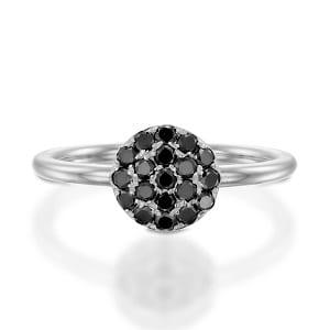 Black diamonds ring model Berry white gold ver