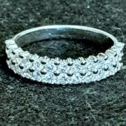 Diamonds two bands white gold ring