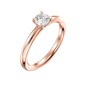 Diamond solitaire engagement rose gold ring model Tamar