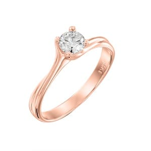Diamond solitaire engagement rose gold ring model Adriana