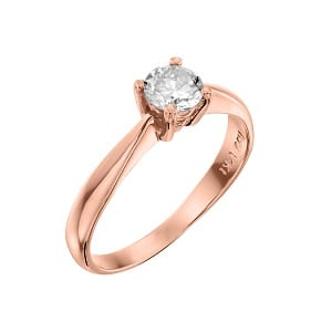 Diamond solitaire engagement rose gold ring model Royal