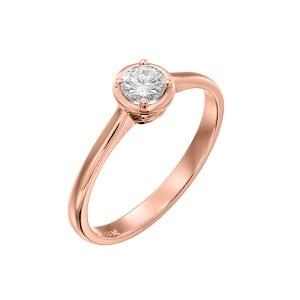 Diamond solitaire engagement rose gold ring model Ariadne